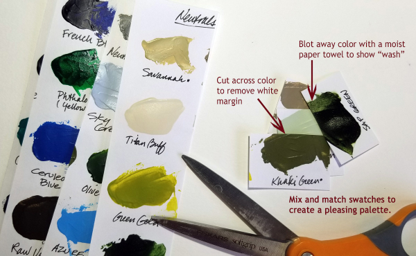 Cutting Color Swatches Up